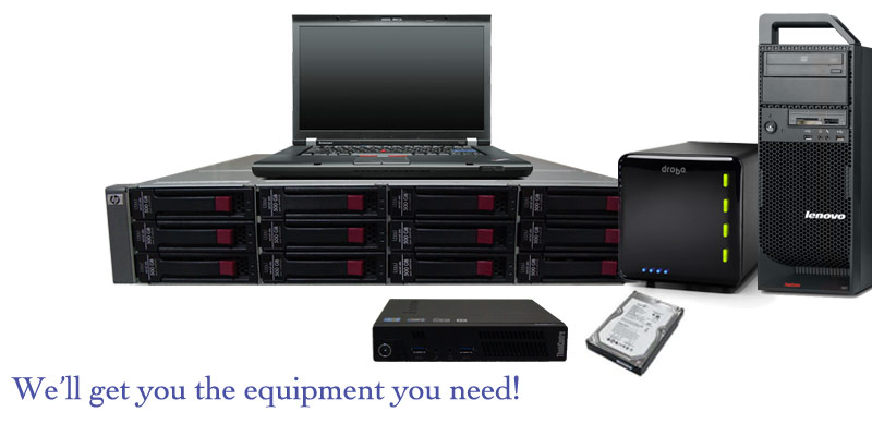 RAID arrays, Workstations, Laptops, NAS, or backup devices.